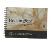 "Bockingford Watercolour Paper Spiral Bound Pad 12 Sheets 7"" x 5"" Rough"