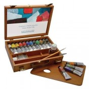 Sennelier Artist Oil Paint Wooden Box Set 12x 40ml Tubes