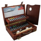 Sennelier Artist Oil Paint Wooden Box Set 22x 40ml Tubes