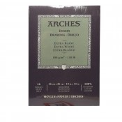 Canson Arches drawing extra white Pad 16 Sheets - 26 x36cm