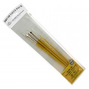 Royal & Langnickel Brush Pack - Acrylics, Oils, Watercolours & Temperas - White Taklon