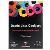 Clairefontaine Dessin Lisse Couleurs, Smooth Coloured Paper Pad 20 Sheets A4 120gsm
