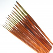 Pro Arte Series 007, Prolene Plus Synthetic single Round Brushes ideal for watercolour or gouache painting