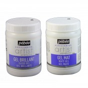 Pebeo Auxiliaries Artist Acrylic Gel Matt/ Gloss 250ml pots for acrylic paint