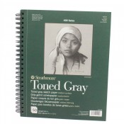 Strathmore 400 series gray tone sketch pad spiral bound 118gsm 50 sheets