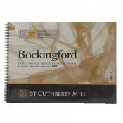 "Bockingford Watercolour Pad Spiral Bound Paper 12 Sheets 12"" x 9"" Rough"