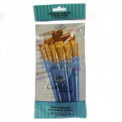 RCC-304 Royal Brush Craft/Art Golden Taklon value pack 7pc Angular Set