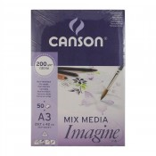 Canson Mixed Media imagine Pad A3 200gsm 50 Sheets