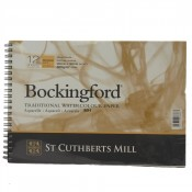 "Bockingford Watercolour Pad Spiral Bound Paper 12 Sheets 10"" x 7"" Rough"