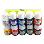 Pebeo Vitrea 160 Gloss 10 x 45ml Assorted Colours Water Based Glass Paint