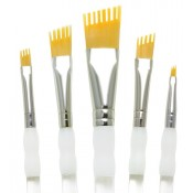 Royal & Langnickel talkon paint brush Aqualon Wisp - 5pc. Assorted Angular Set