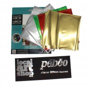 Pebeo Gedeo mirroe effect Gold  finish  leaves 12, 14 x 14cm