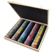 Sennelier 98 watercolour tubes wooden box set 10ml extra fine quality