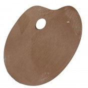 Loxley Wooden Plywood Oval Palette 350x250mm