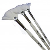 Pro Arte Series 33 Polar White Nylon - All Purpose Fan Brushes