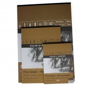 Daler Rowney Fine Grain Heavy Weight Paper Pad 200gsm, A2, A3, A4 or A5