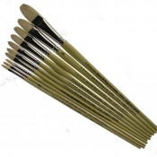 Pro Arte Series B, Oil Painting High Quality Hog Single Brushes - Filbert Brush