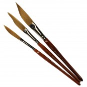 Pro Arte Artists' Series 9A, Prolene Synthetic Sword Shaped Liners - Single Brush