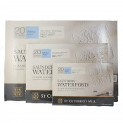 Saunders Waterford Cold Press Classic Watercolour Paper Blocks, 10x7, 14x10, 20x14