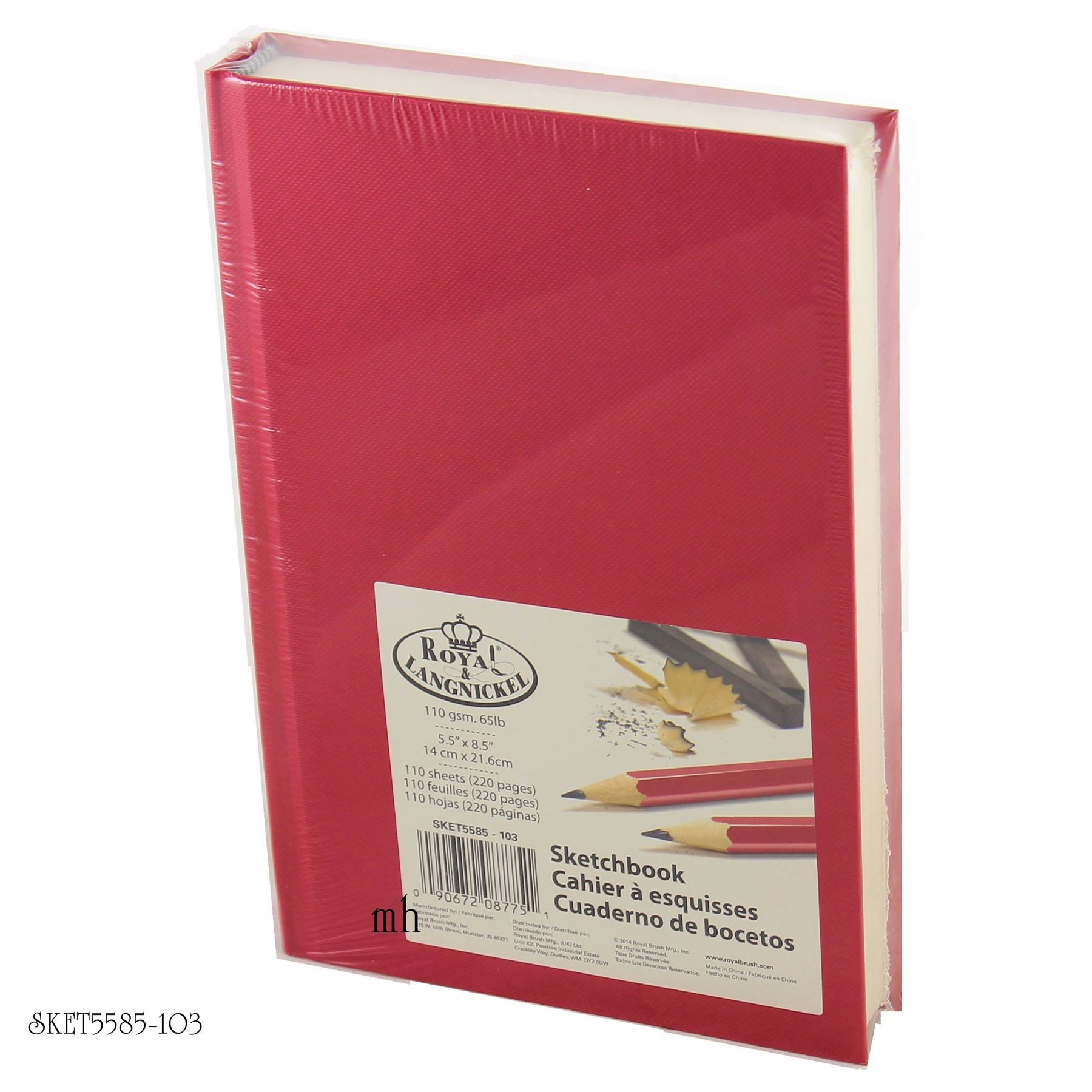 "Royal & Langnickel Sketch Book 8 1/2"" x 5 1/2"" - bright cover SKET5585-100'S"