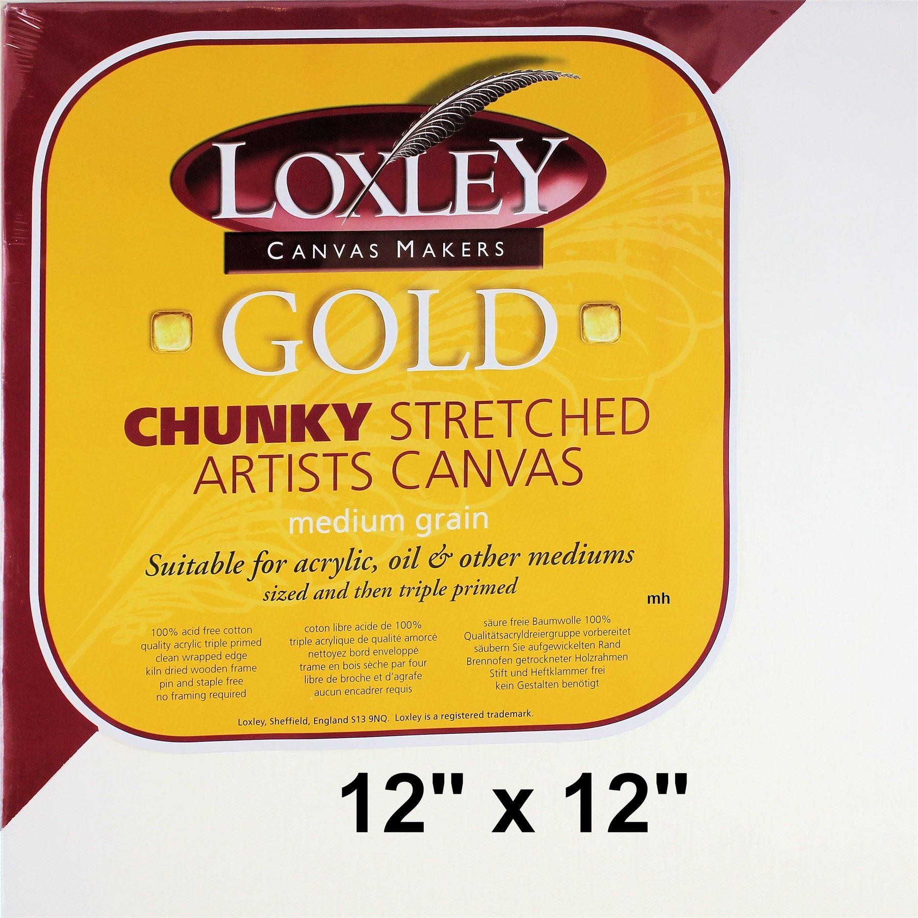 Loxley Gold Stretched Canvas Chunky Deep edge, cotton canvas Primed
