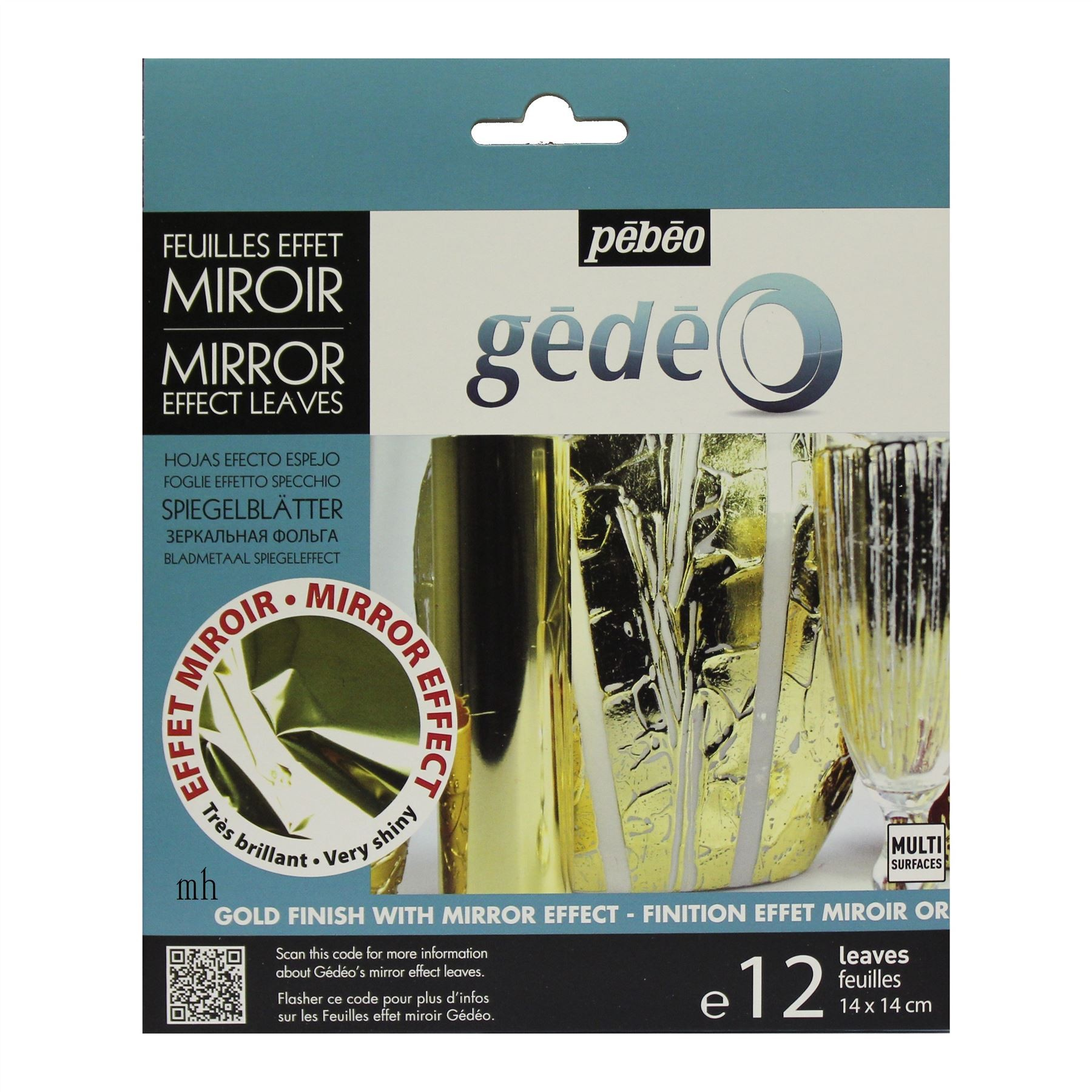 Pebeo mirror effect leave foils