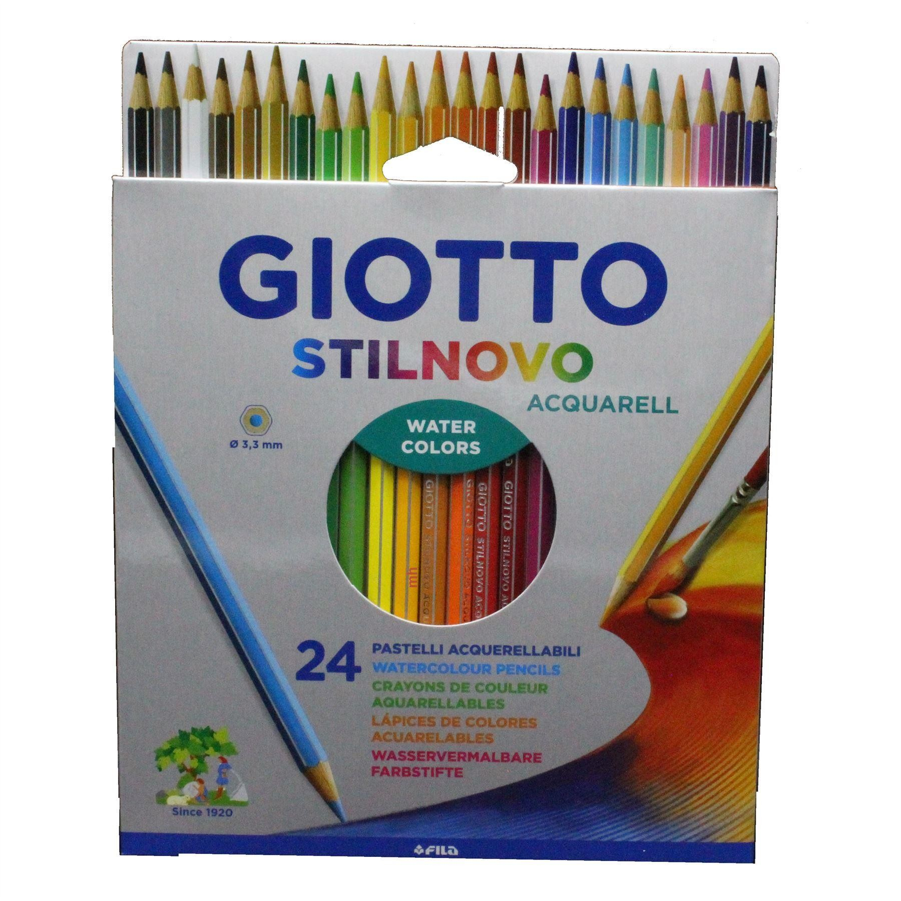 Fila Giotto Stilnovo watercolour Pencils sets 12, 24 or 36