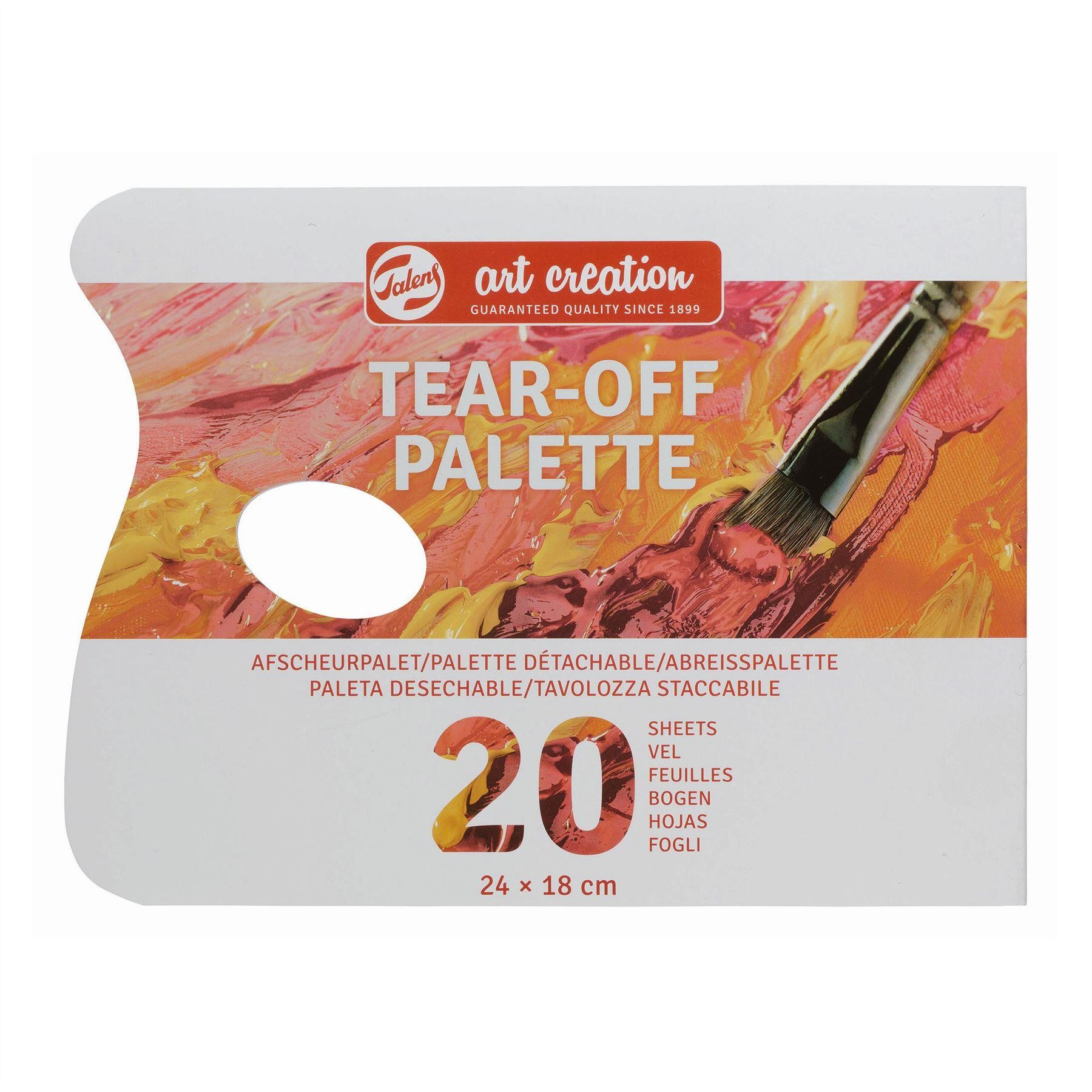 Talens tear off painting palette oil or acrylic