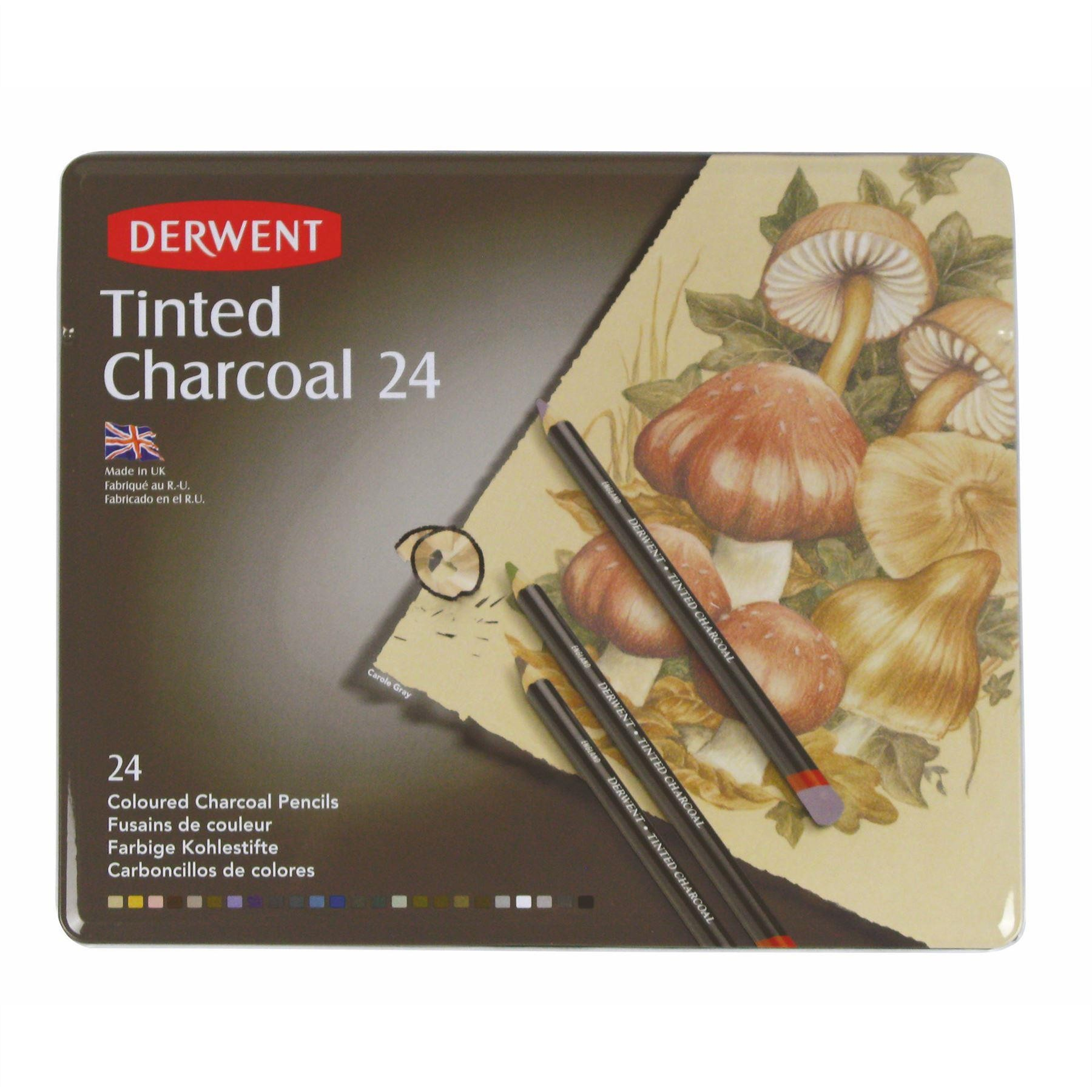 Derwent Artists Tinted Charcoal pencil sets, Coloured.