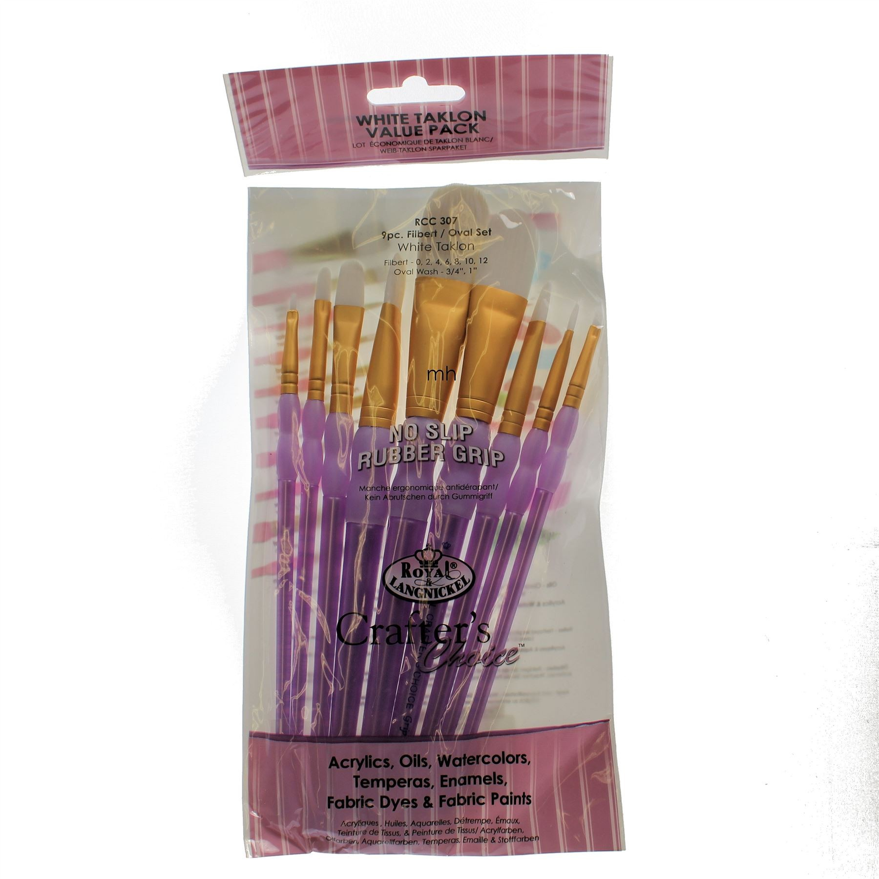 Royal & Langnickel Crafters' Choice, Artists' Golden Taklon Paint Brush Set - RCC-300 Series