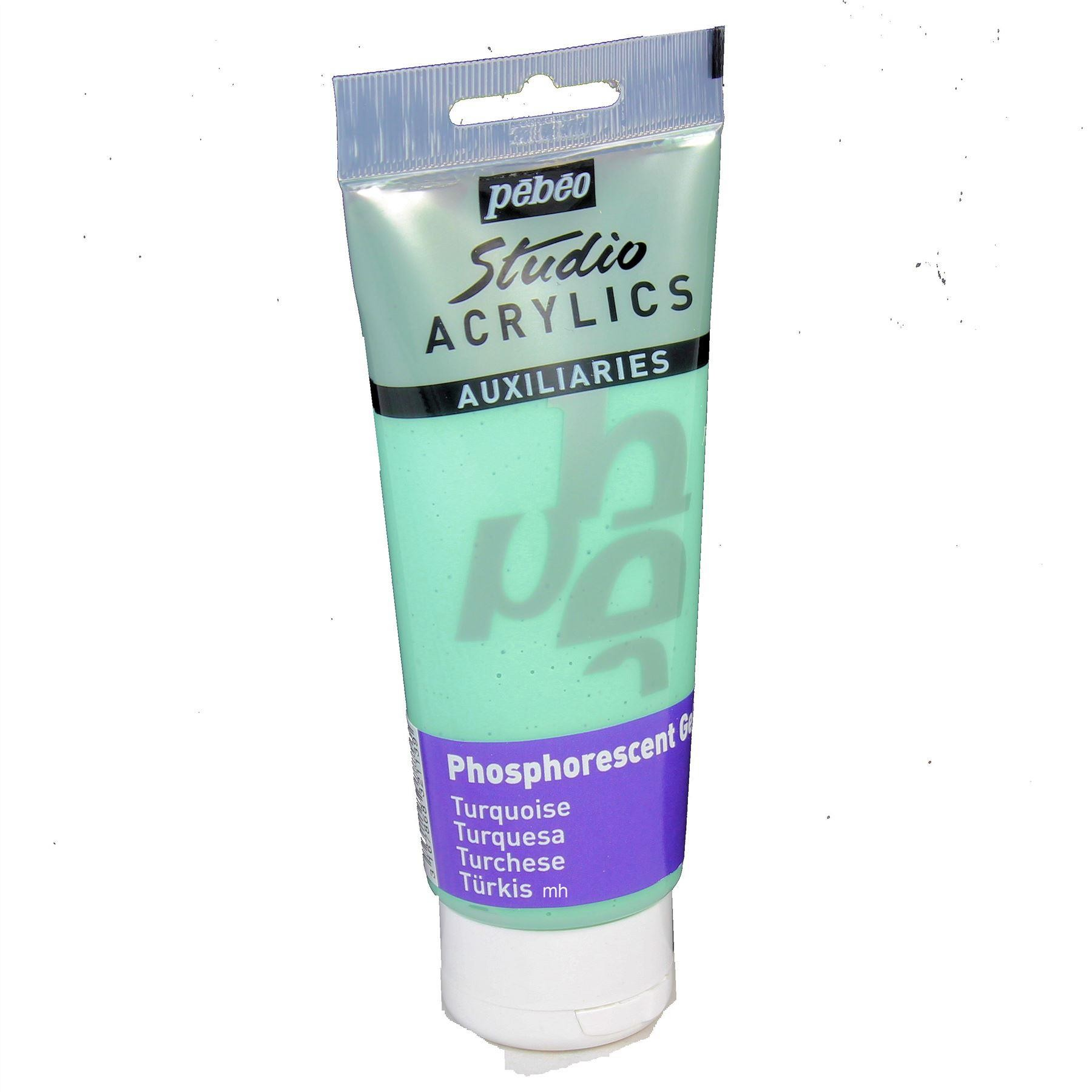 Pebeo Artists Acrylic Glow in the Dark - 100ml Tubes