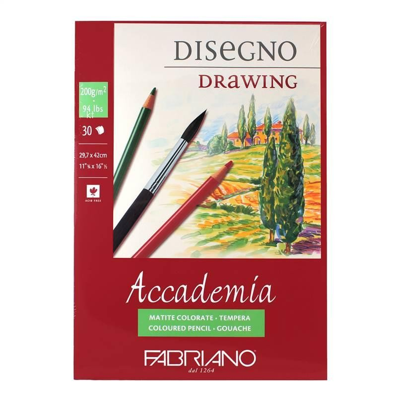 Fabriano Accademia 200g Drawing Pad 30 Sheets Glued sketching pad