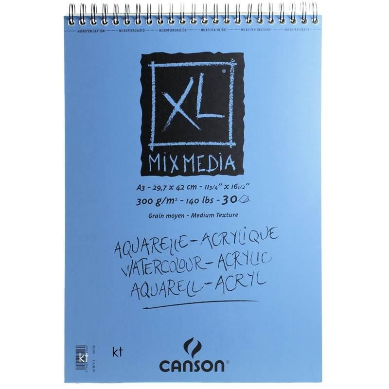 Canson XL Mixed Media Paper Pad 300gsm - 30 Sheets