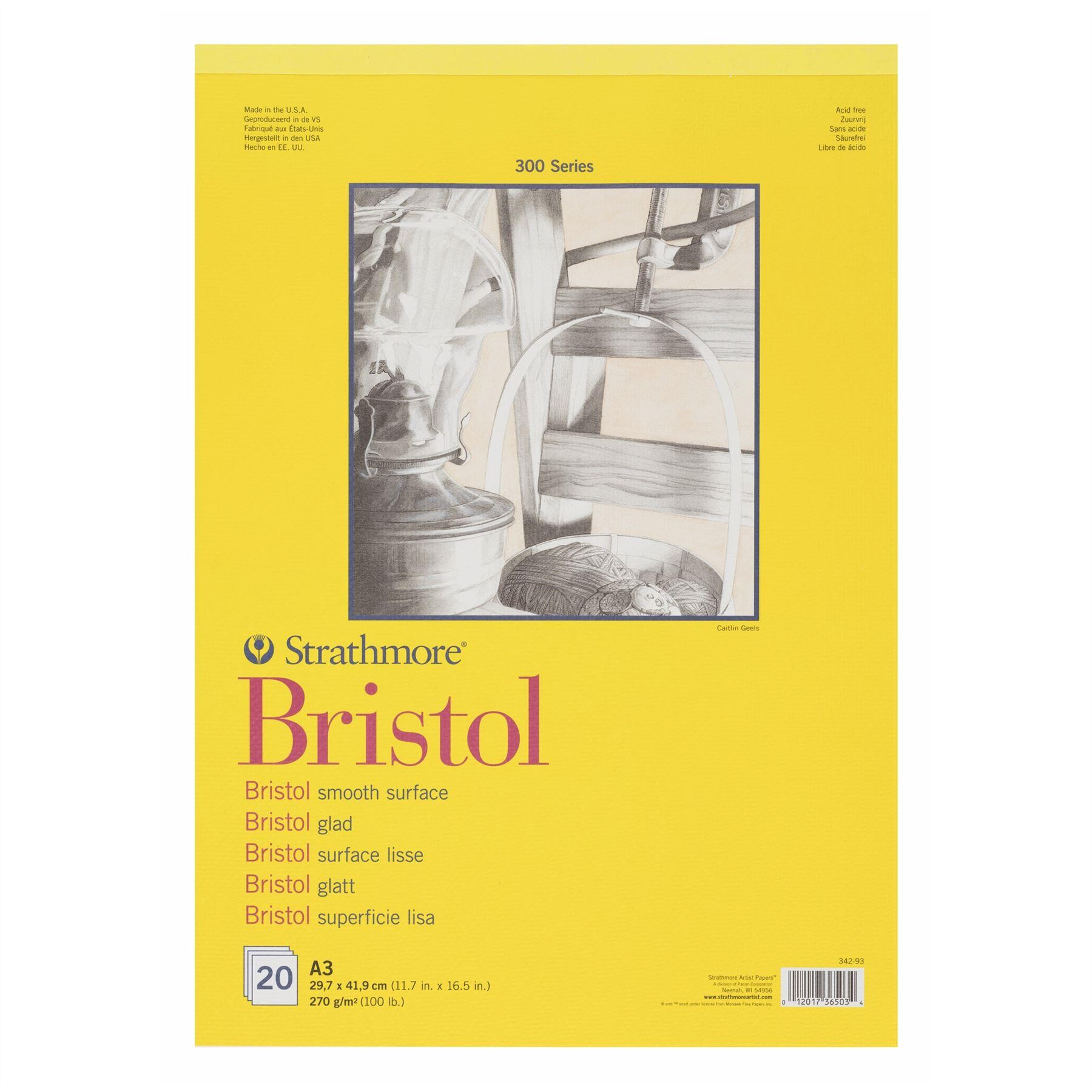 Strathmore 300 Bristol Smooth paper pad A3