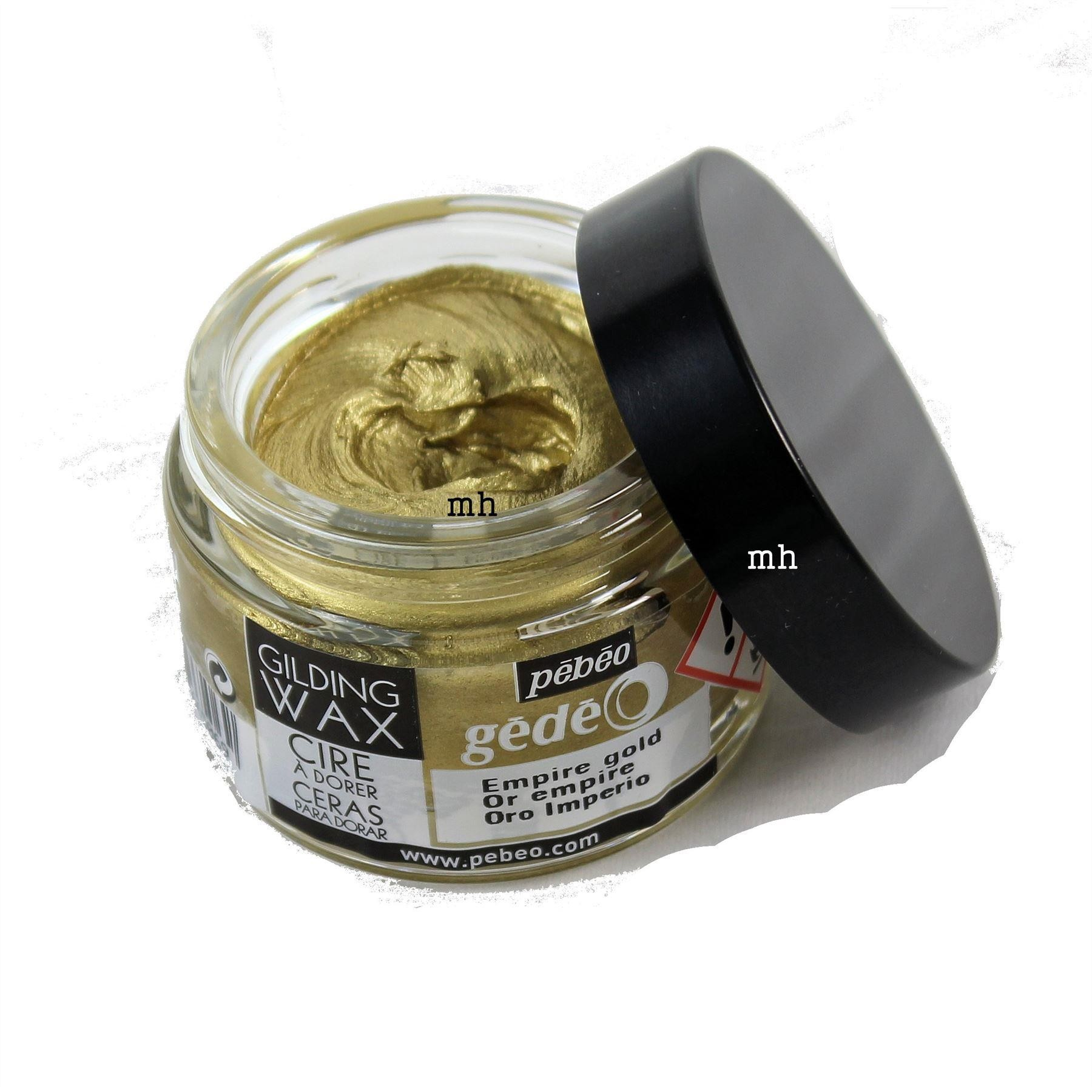 Pebeo Gedeo Gilding wax in gold or silver, crafters metallic wax