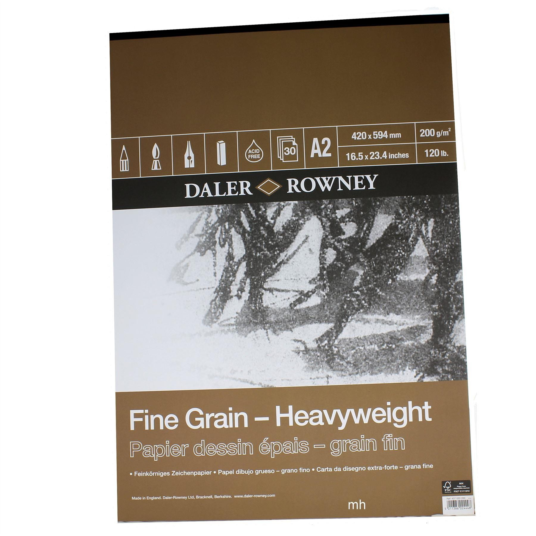 Daler Rowney Fine Grain Heavy Weight Paper Pad 200gsm