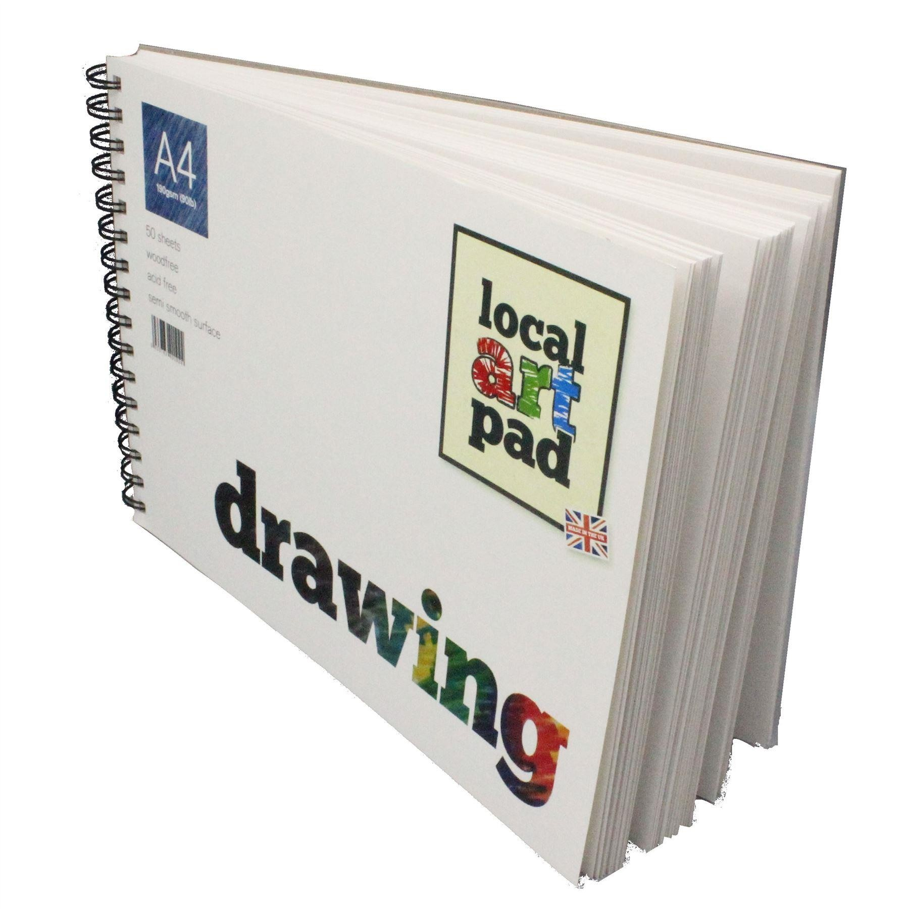 Local art pad perfect artists drawing pads A£, A4, or A5 190gsm