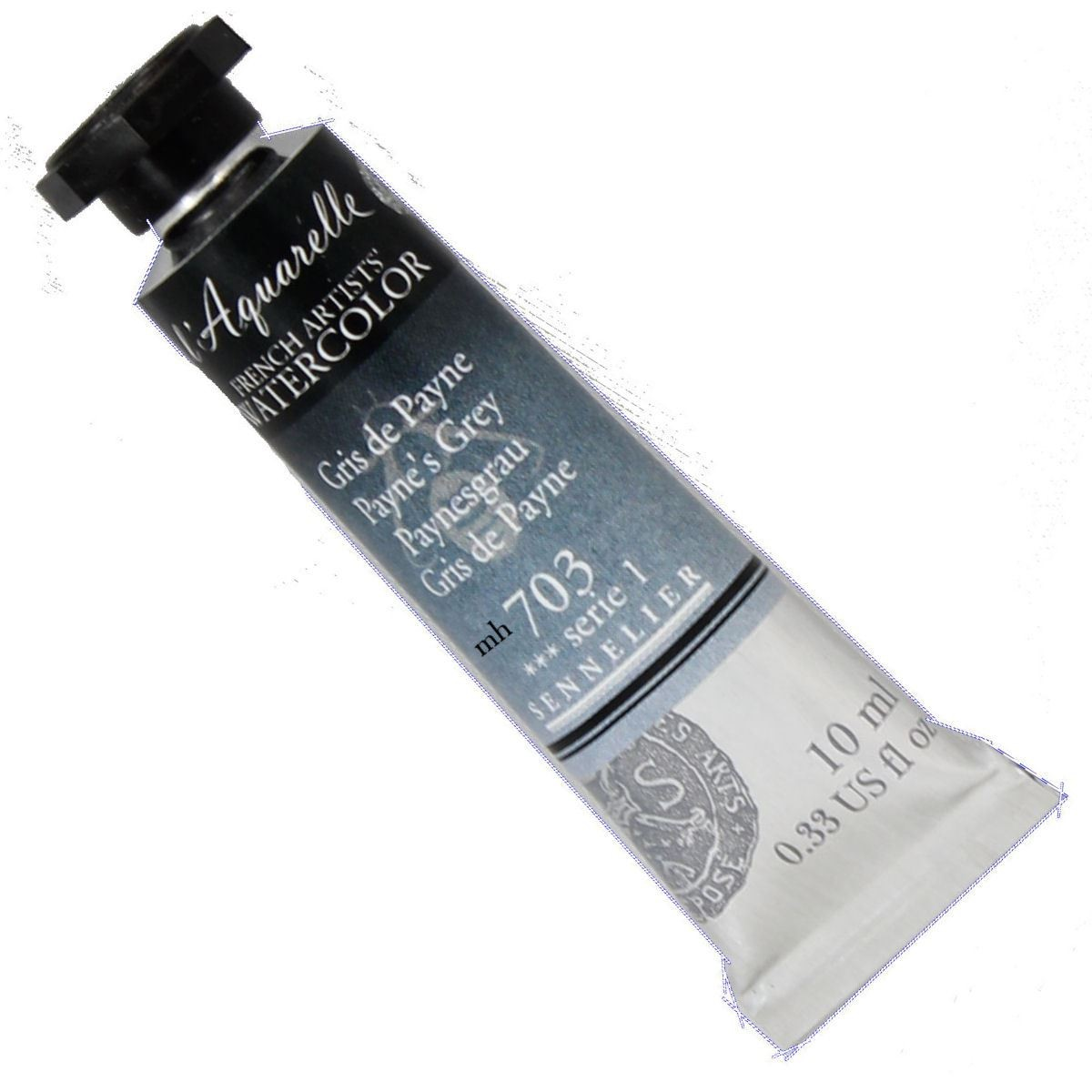 Sennelier artists watercolour paint 10ml tubes stand.