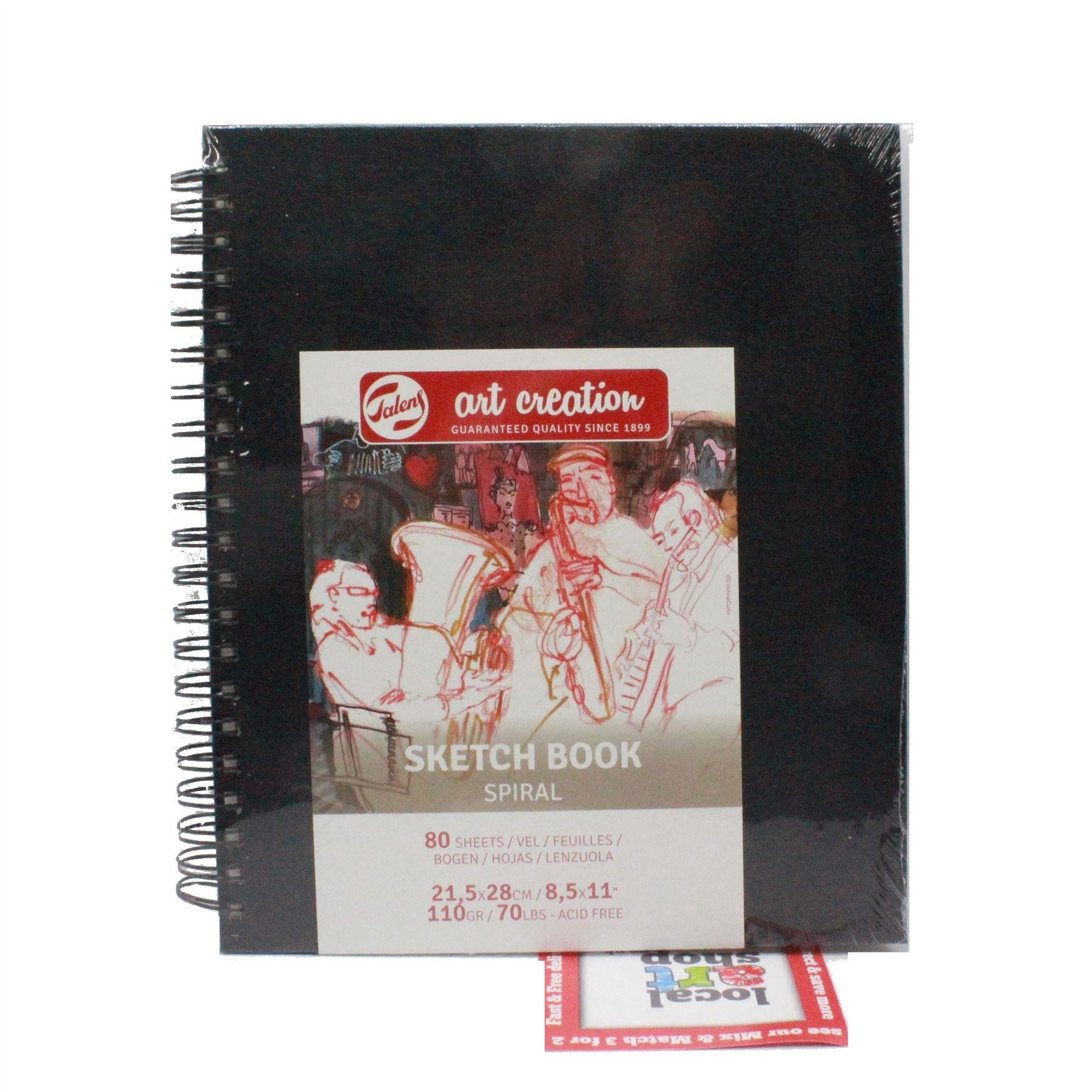 Talens sketch book hard back drawing paper pad 80 sheets 110gsm assorted sizes