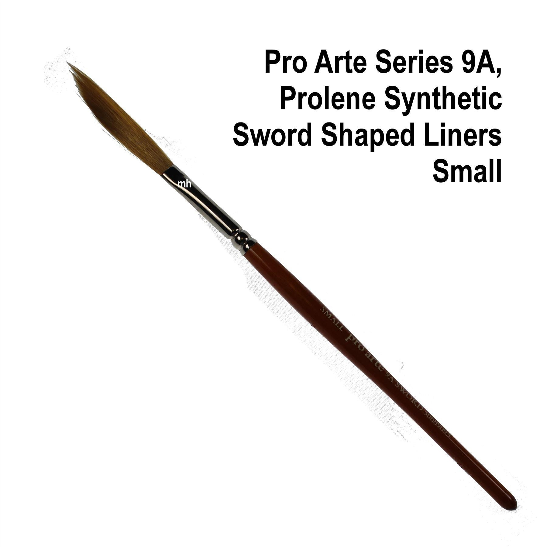 Pro Arte 9A Prolene Synthetic Sword Shaped Liners brush