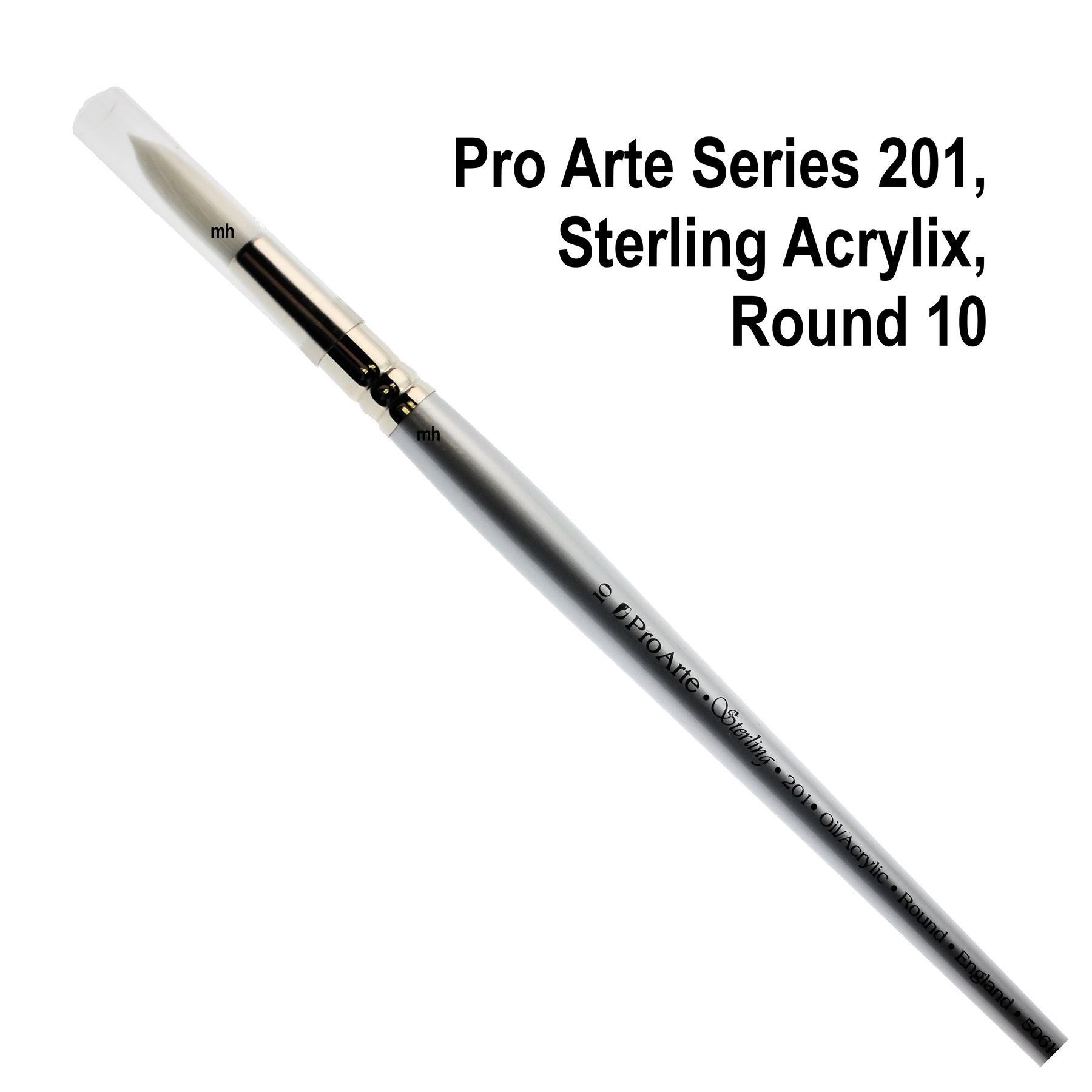 Pro Arte Series 201, Sterling Acrylix Brushes, Round Brush - Assorted Sizes