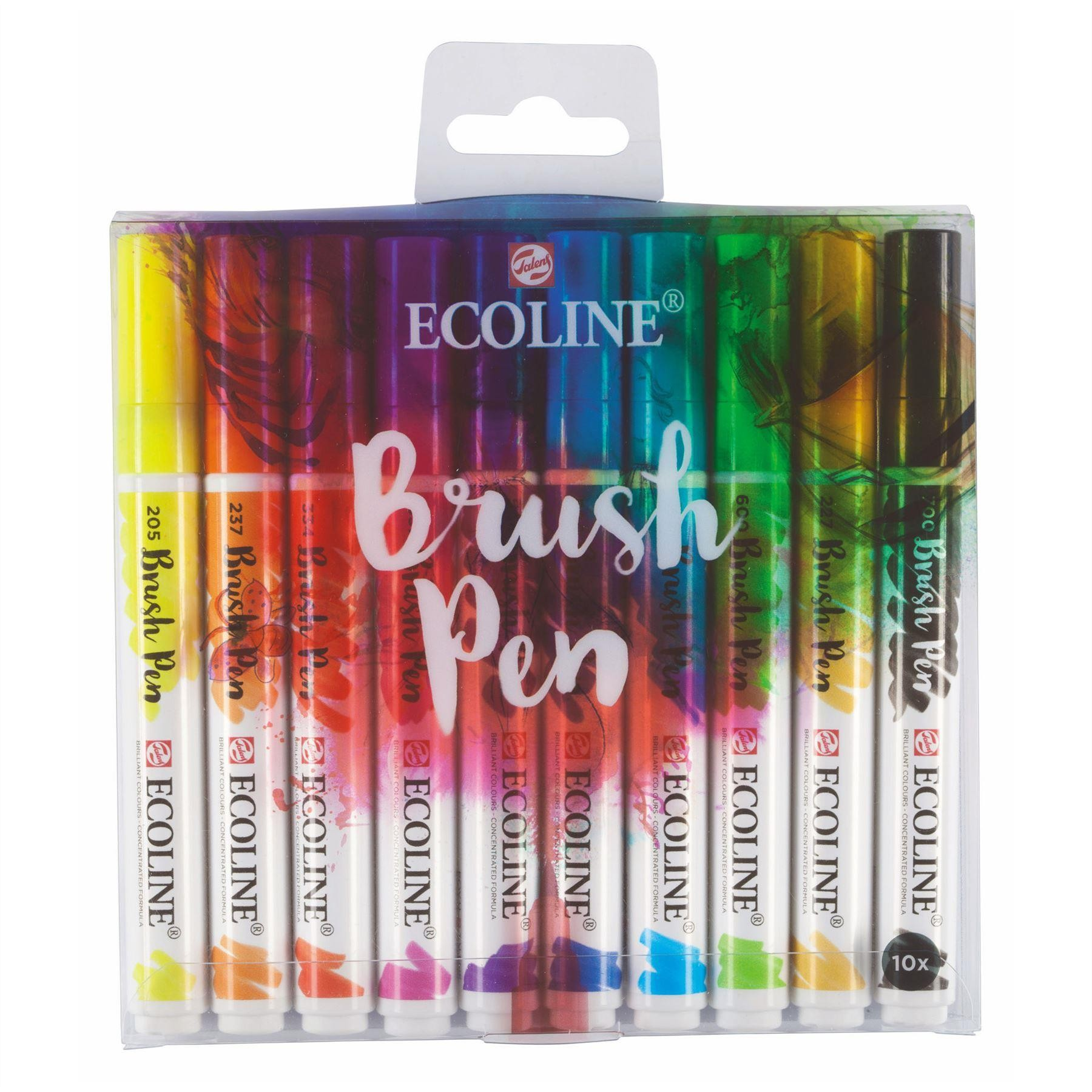 royal talens ecoline brush pens selection of color