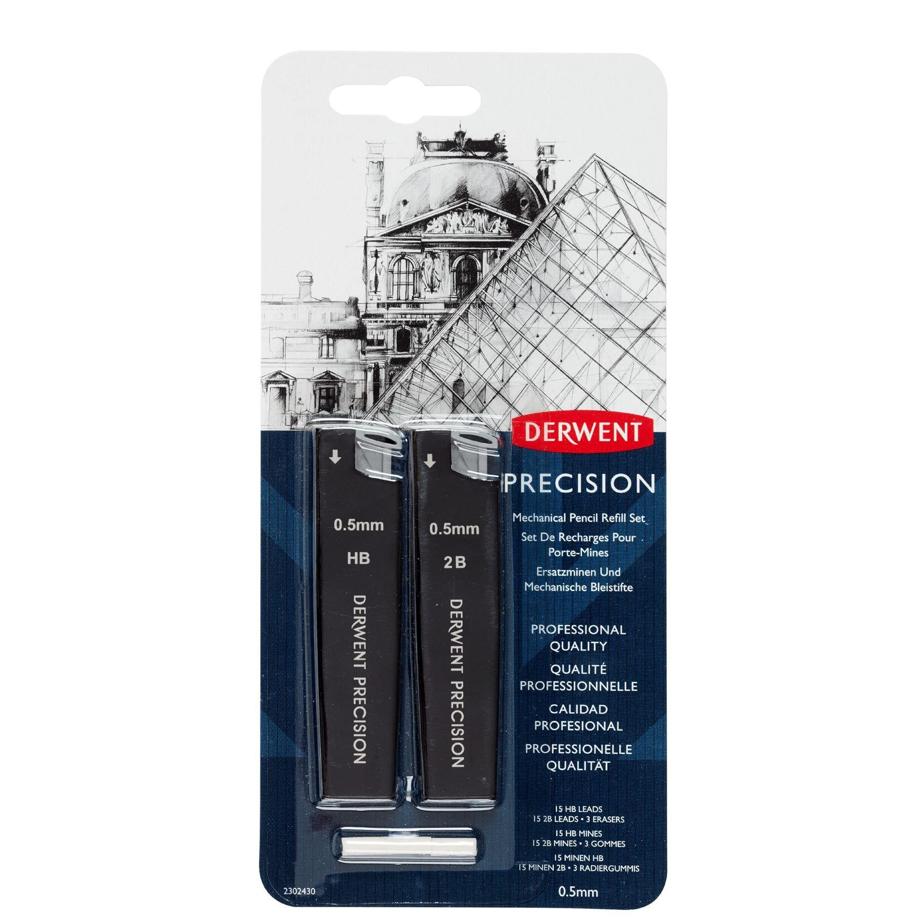 Artists mechanical pencils by dewent pencils and refils 0.5, 0.7mm