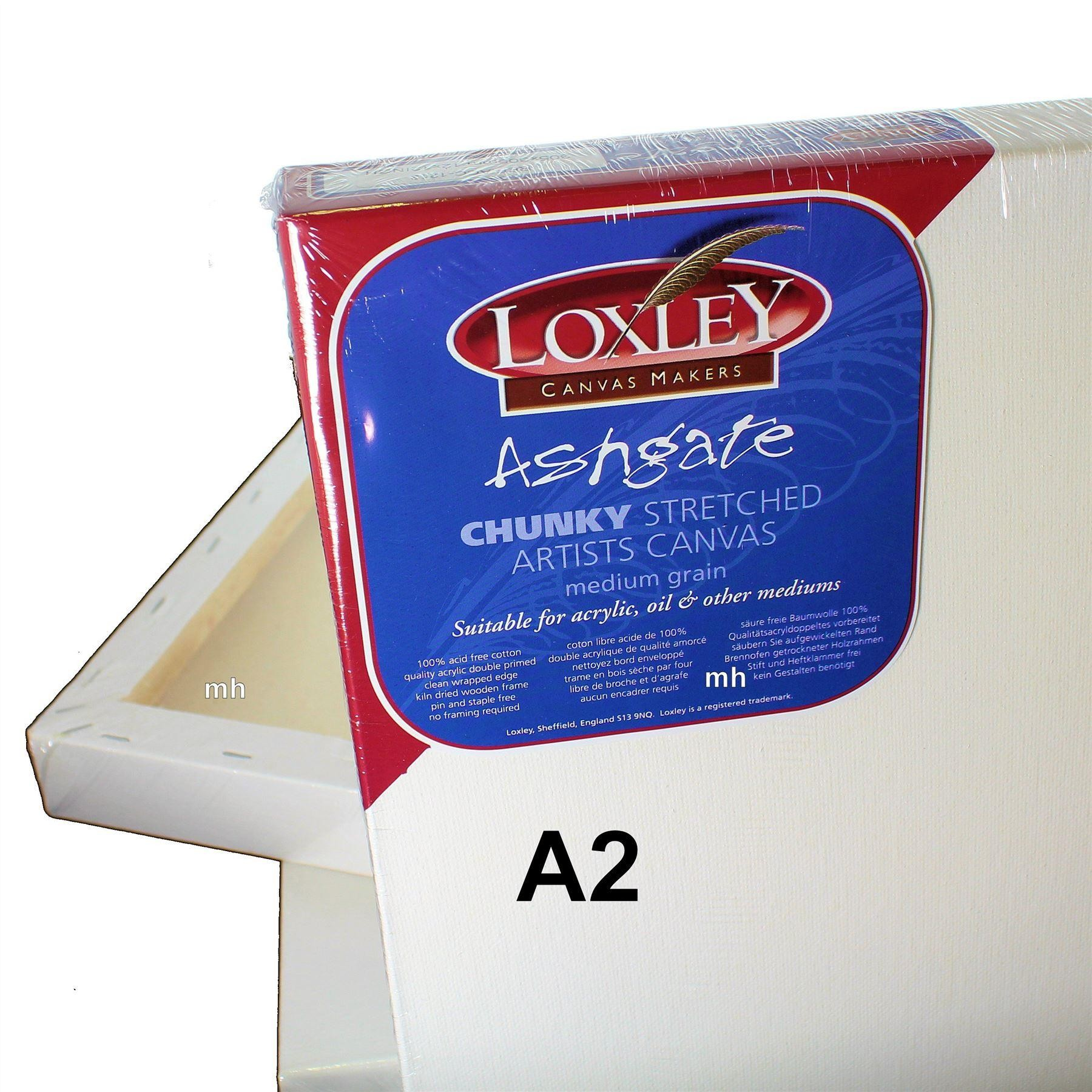 Loxley Ashgate Chunky canvas, single size boxes of stretched canvas