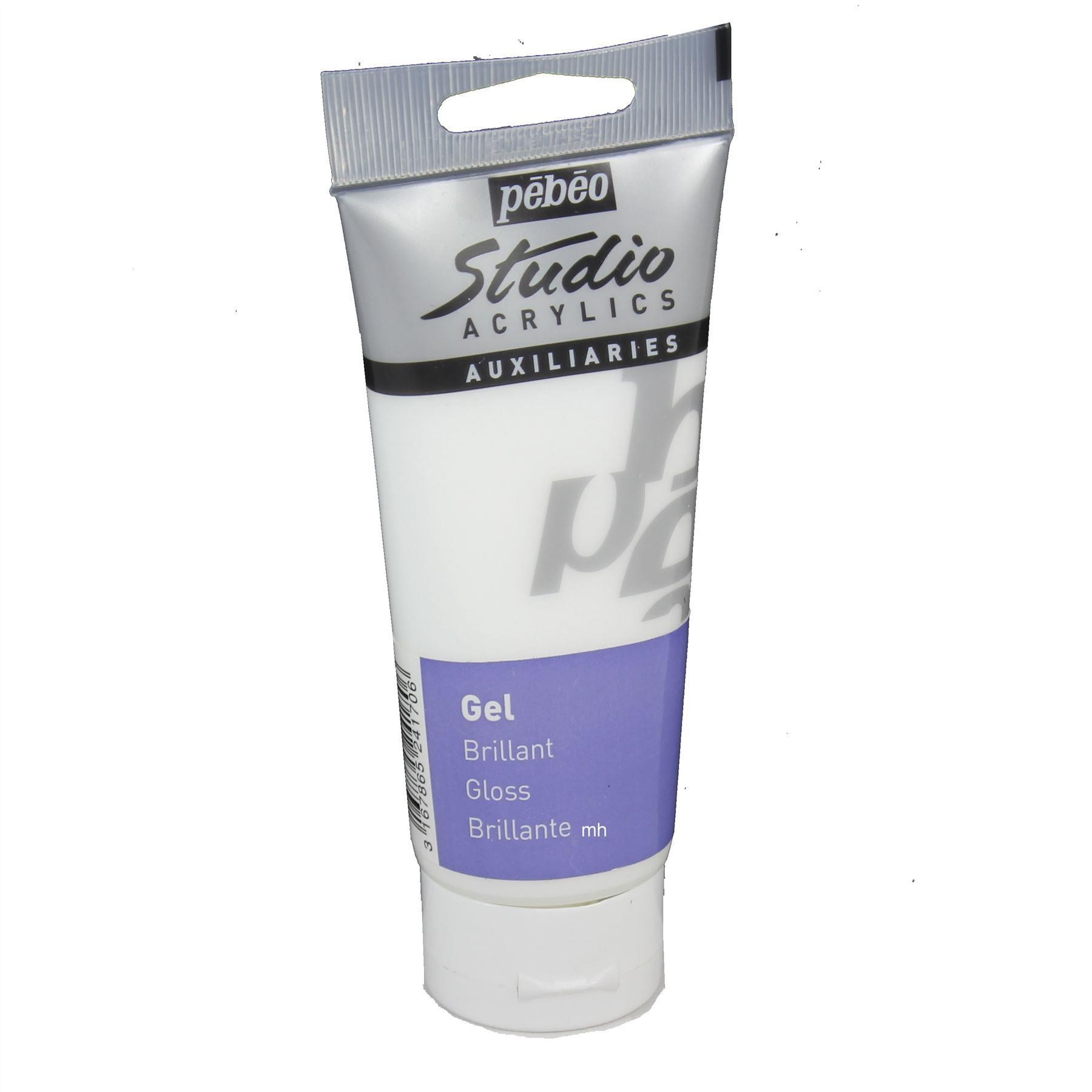 Pebeo Studio Acrylic Auxiliaries Gel, Matt or Gloss, 100ml or 250ml
