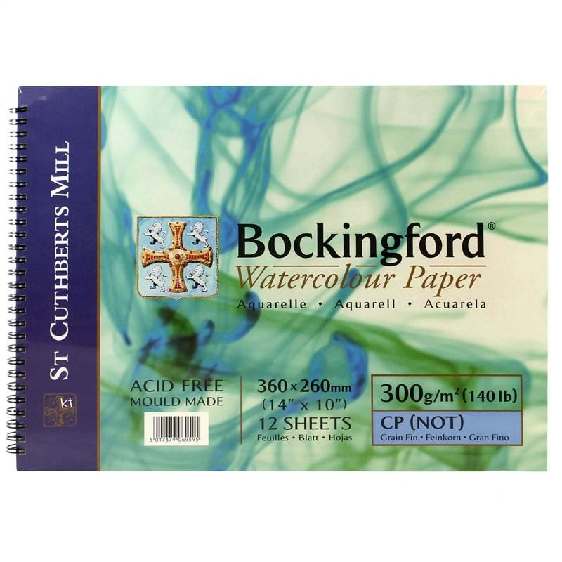Bockingford Watercolour paper spiral bound Pads, 300gsm (140lb) Cold Press