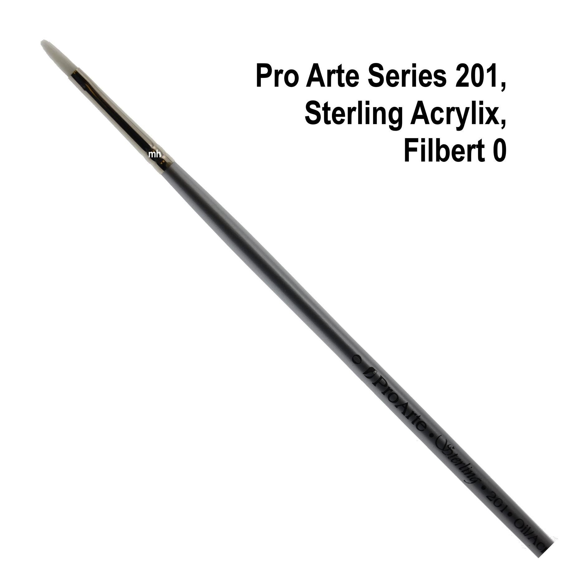 Pro Arte Series 201, Sterling Acrylix Brushes, Filbert Brush - Assorted Sizes