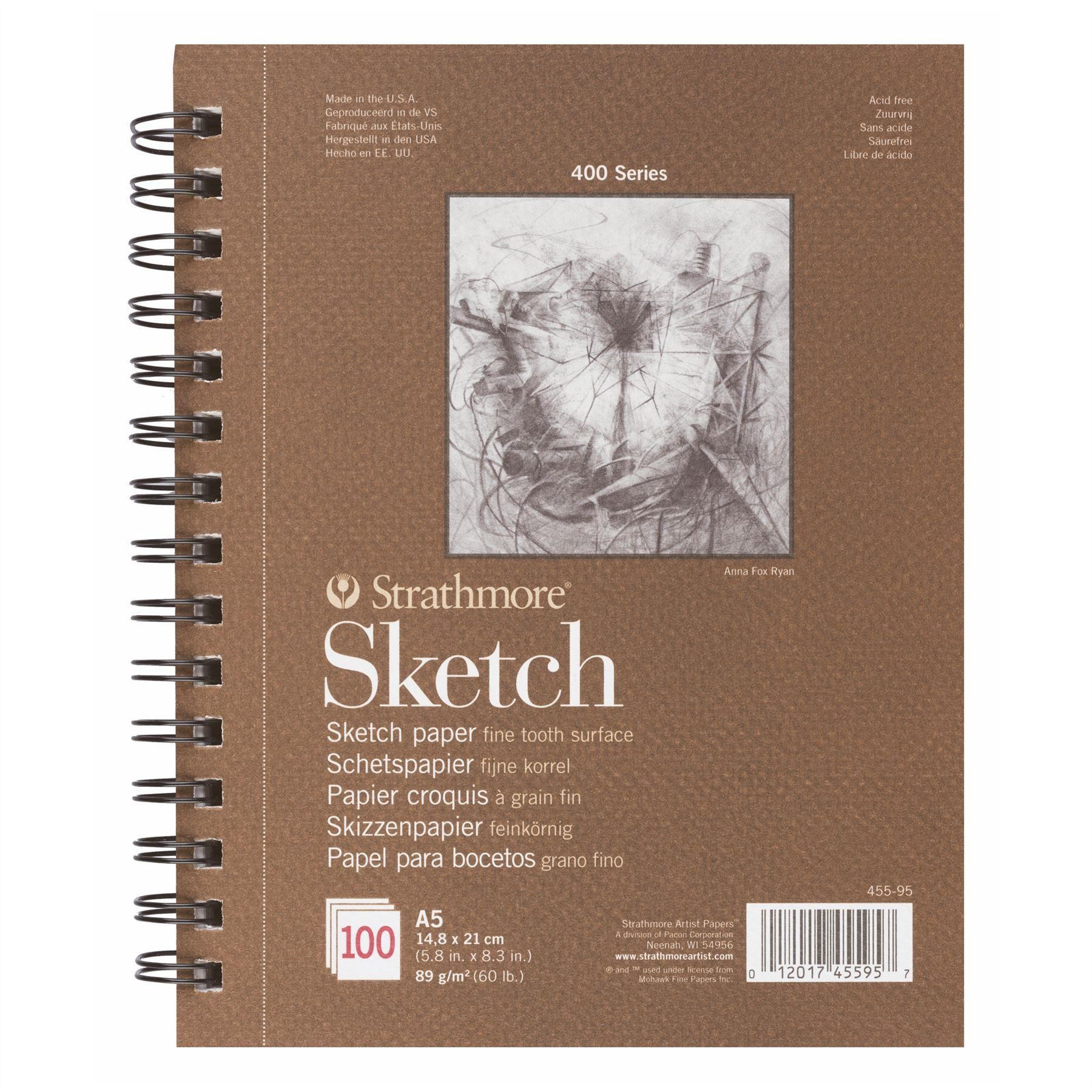 sketch pad 400 series paper 89gsm Strathmore