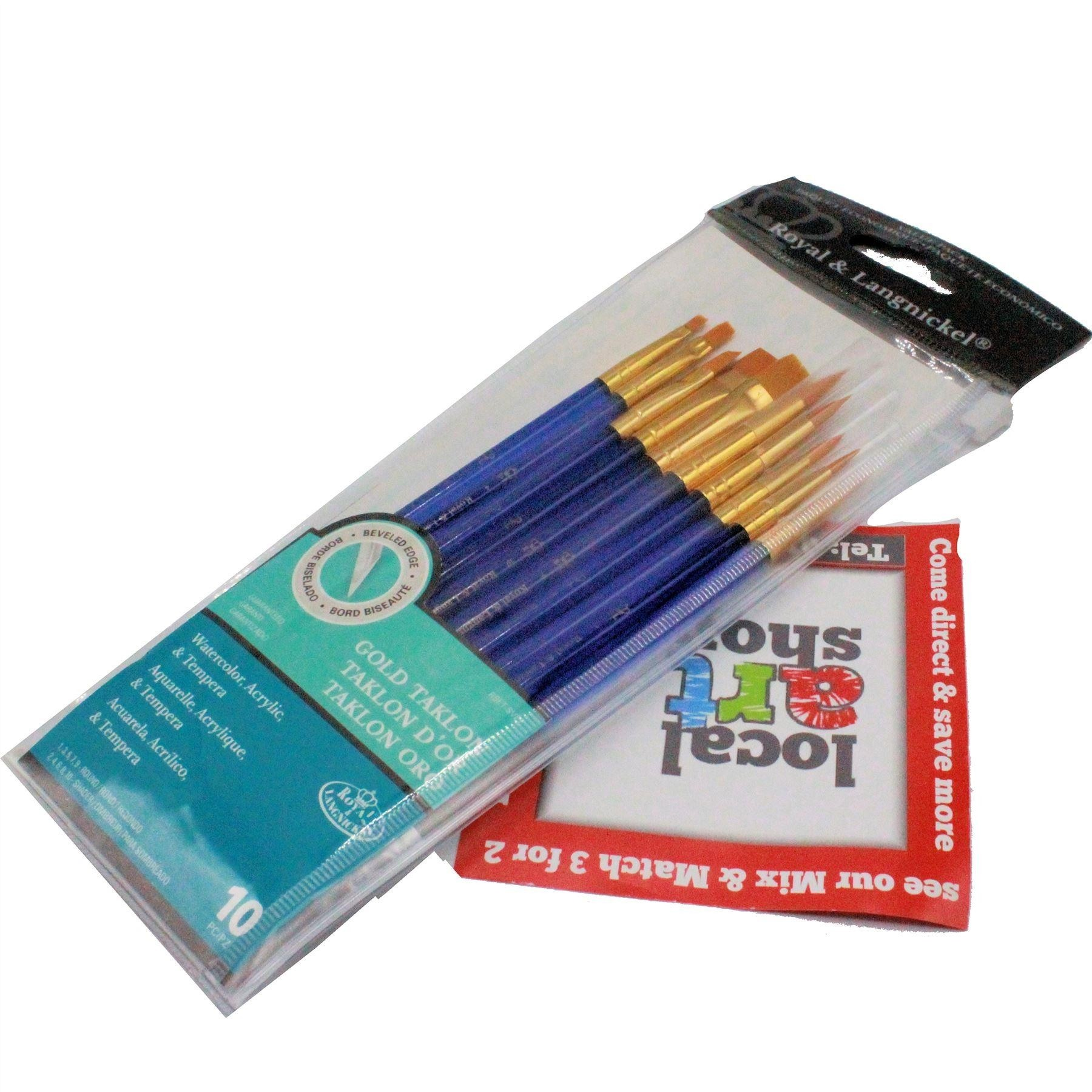 Royal & Langnickel Super Value Pack of 10 Brushes