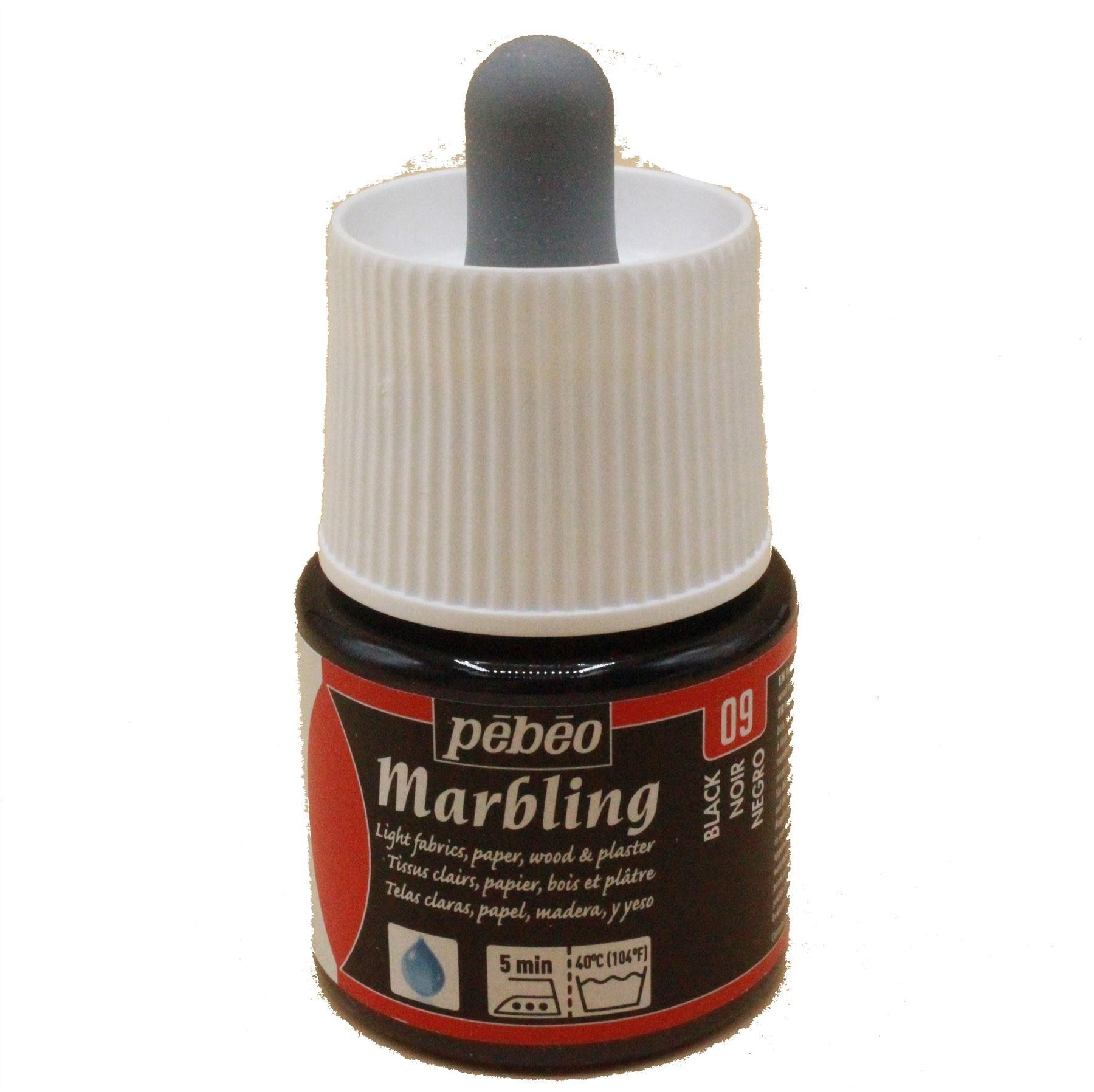 Pebeo Marbling light fabric paper wood or plastc paint, 45ml or bath